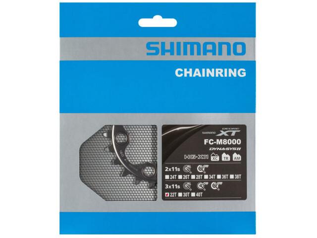 Shimano Deore XT FC-M8000 Klinge til 40-32-22 tænder 11-speed BB sort (2019) | chainrings_component